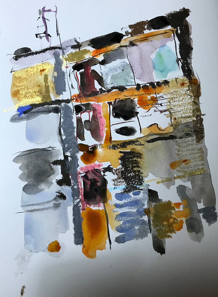Peter Davey, artist - drawing
